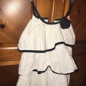 Other - Penelope Mack White Ruffle Dress sz 24m
